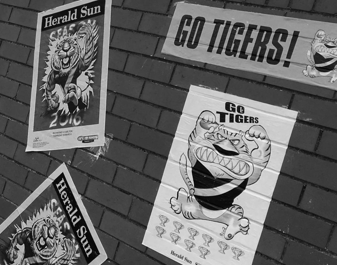 Tiger wall (B&W)